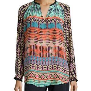 Tolani Lynn Printed Silk Tunic